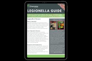 Chemstar WATER legionella guide on ipad