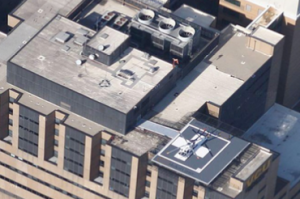 Top of Medical Building Showing the Helicopter Pad